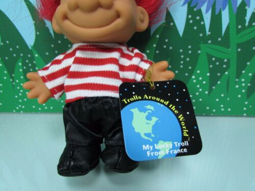 """5/"""" Russ Troll Doll NEW IN ORIGINAL WRAPPER AROUND THE WORLD FRANCE"""
