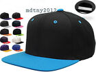 Flexfit Classic Snapback Snap Back Baseball Blank Plain Hat Cap Yupoong