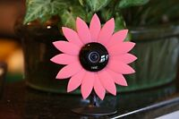 Nest Cam Security Camera Camouflage Pink Sun Flower Cover Skin Case Disguise