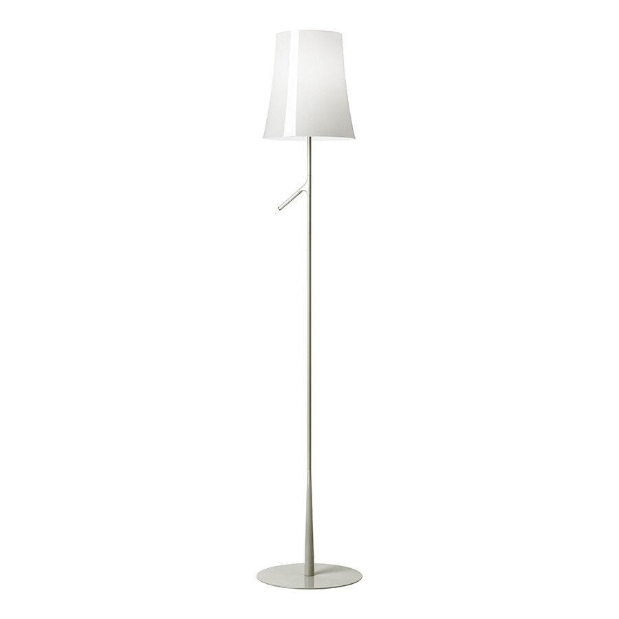 FOSCARINI lampada da terra BIRDIE ON OFF in policarbonato e acciaio