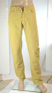 Jeans-Uomo-Pantaloni-CARRERA-SA574-Gamba-Dritta-Giallo-Tg-46-veste-piccolo