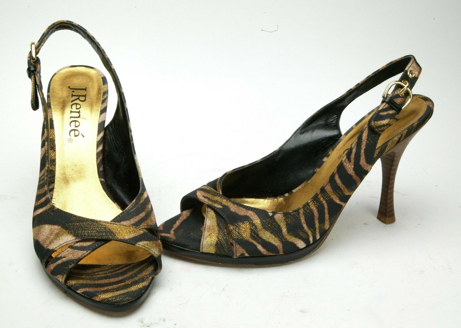 J. Renee Women's Unusual High Heel shoes From Textile Upper. Size 8,5. New.
