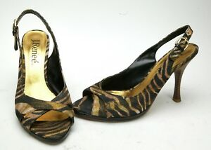 707fcd152be Details about J. Renee Women's Unusual High Heel Shoes From Textile Upper.  Size 8,5. New.