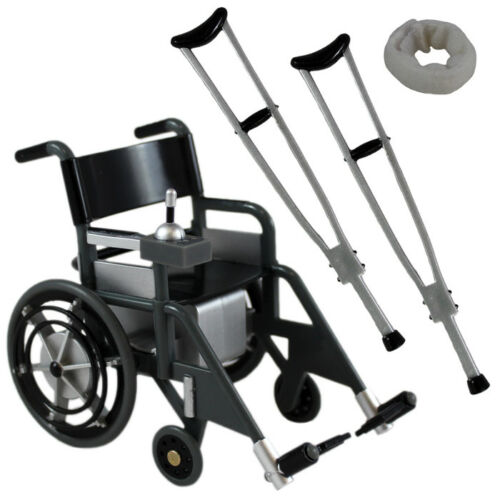 1/12 scale Wheelchair Playset (Black) for 6 ~ 7 Action Figures