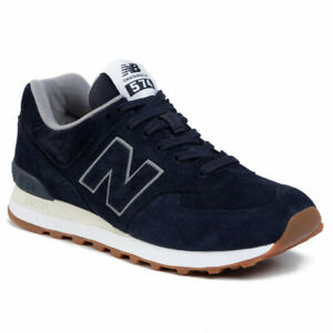 NEW-BALANCE-574-Classic-Suede-Scarpe-Uomo-Sneakers-NAVY-ML574EMA