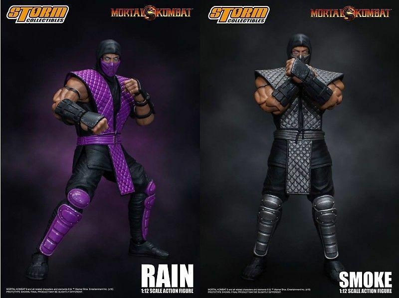 Storm Collectibles NYCC 2018 2018 2018 Exclusive Mortal Kombat Smoke & Rain cifra Set 3fa921