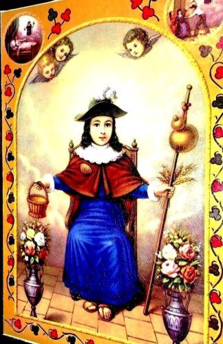"""Art Wood Framed Print Paint Picture Poster /""""Santo Niño de Atocha/"""" 16/""""x11/"""" Large"""