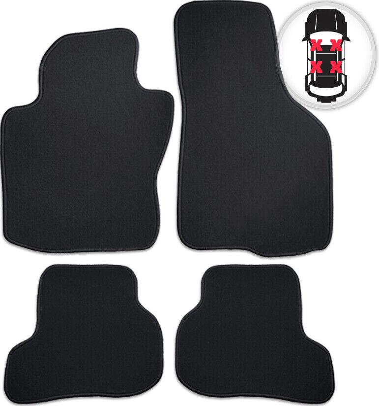 Fußmatten Velours Auto Matte Set schwarz schwarz schwarz für Subaru Impreza Bj. 09 07 - 02 13 a981be