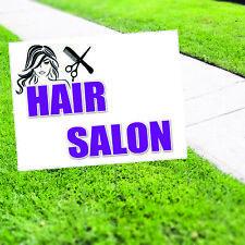 Hair Salon Plastic Novelty Indoor Outdoor Coroplast Yard Sign