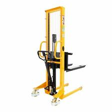 Apollolift Manual Lift Stacker 1100lbs Capacity 63 Lift Height Adjustable Fork