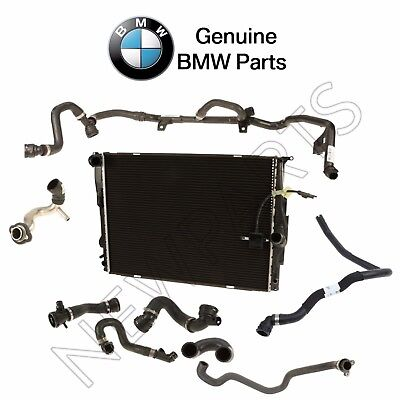 Radiator /& Upper /& Lower Hoses /& Water Hose Kit for BMW E46 3-Series Auto Trans