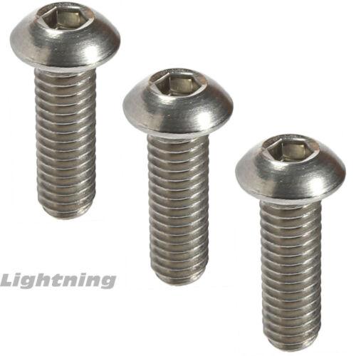 Metric Button Head Socket Cap Screw A2 Stainless Steel M6 x 1.0mm x 18MM Qty50