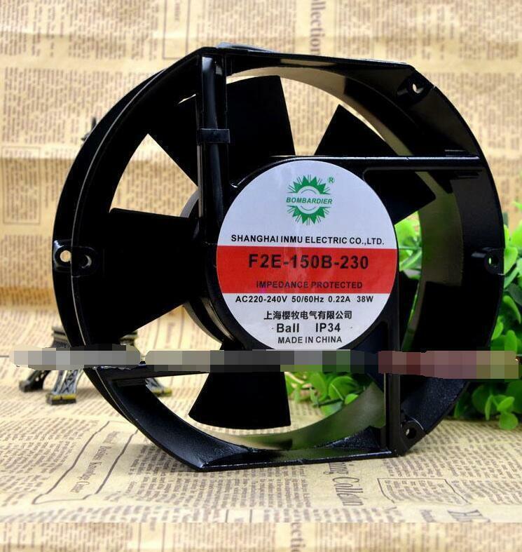 BOMBARDIER F2E-150B-230 220V 38W 17CM cooling fan   LRR