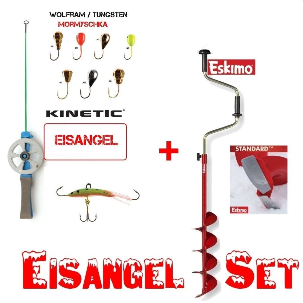 Eskimo Eisbohrer 150 mm  US Import STANDARD ™ -  HD06 + Eisangel - Set