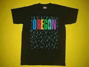 Portland-Oregon-Raindrop-Pacific-Northwest-Vintage-Medium-T-Shirt-USA