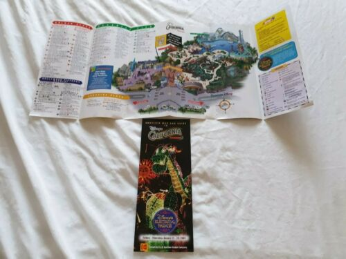 Disneyland California Disney Adventure Guide Map opening year 2001