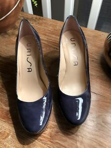 a9ae726b9390 UNISA LADIES COURT SHOES NAVY PATENT LEATHER 3.5