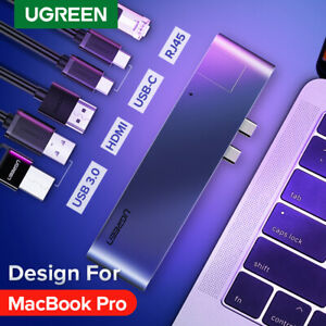 Ugreen Dual USB Type C HUB HDMI Converter USB3.0 Splitter Adapter Fr MacBook Pro
