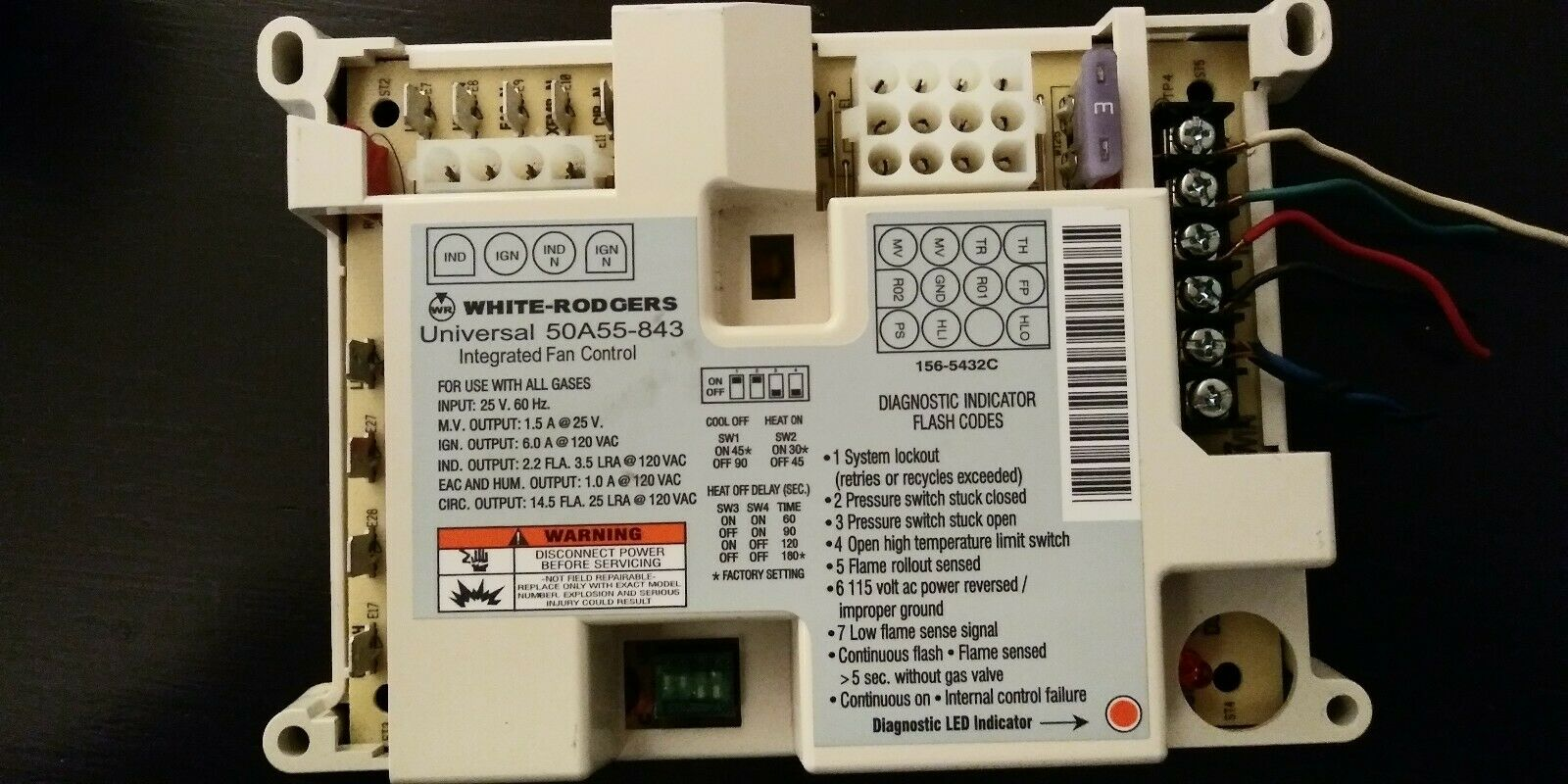 White-Rodgers 50A55-843 Universal HSI Control Module