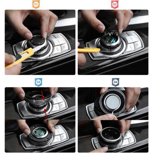 Multi-Media Control Knob Trim For Fit BMW 1 2 3 5 Series Aluminium alloy /& ABS