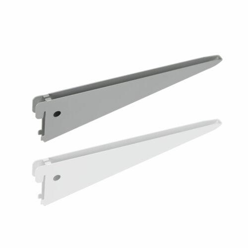 Brackets twin slot shelving system wall uprights double rack shelf mount 100kg