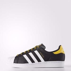 Adidas Superstar Black And Yellow