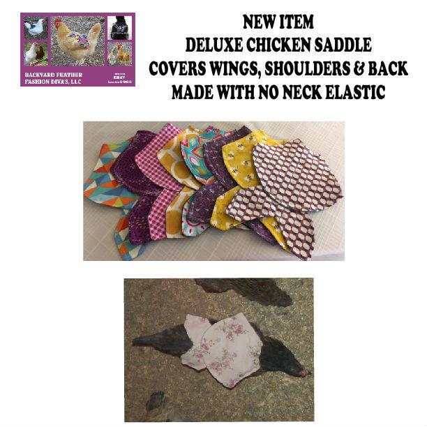 4 DELUXE Chicken Saddle Apron Hen Jacket WING BACK SHOULDER BACKYARD POULTRY