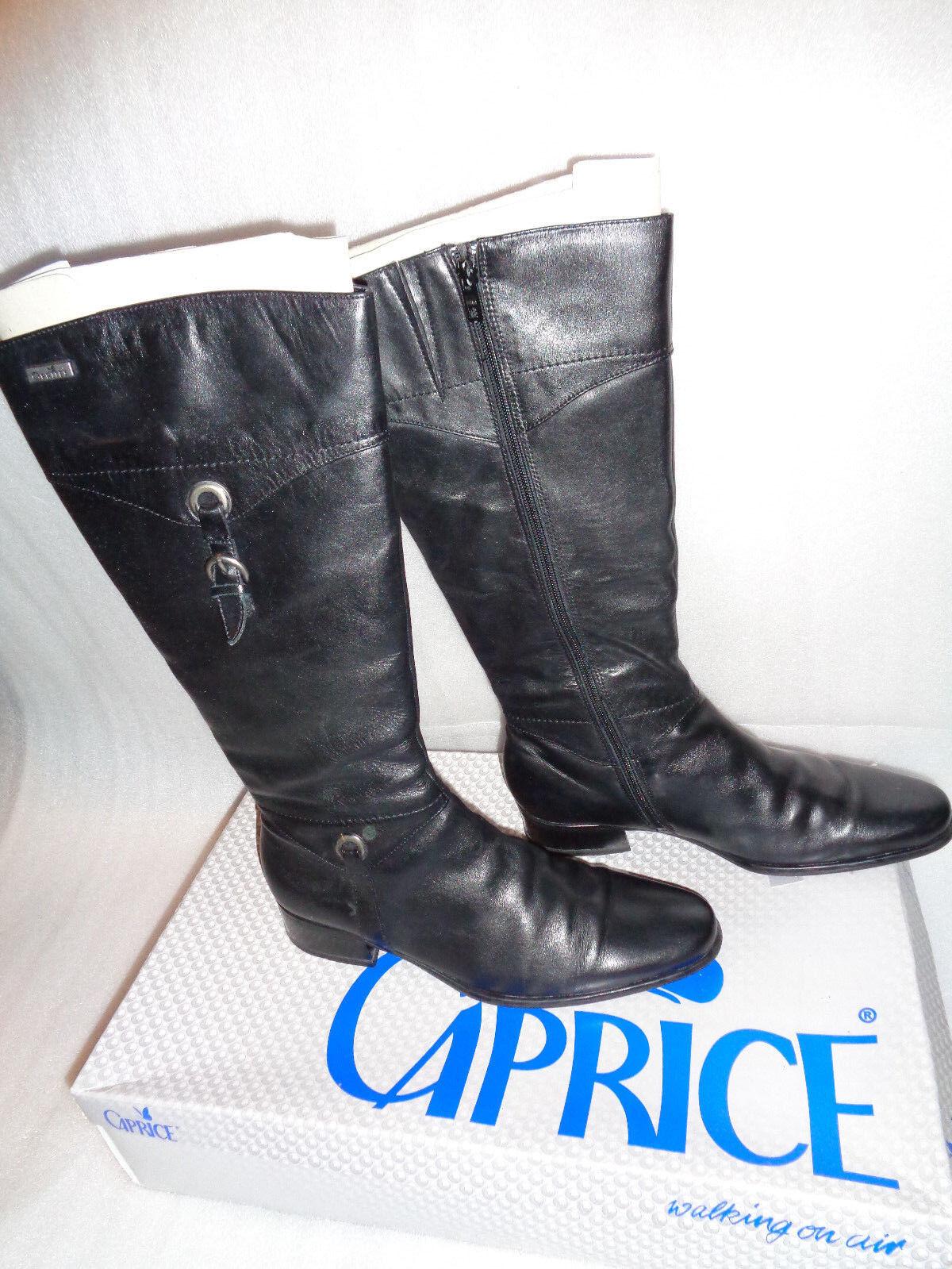 100 01 caprice botas talla 6,5 40, negra, cuero el apartado 2,5 cm anti shock