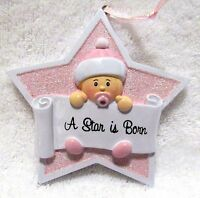 Baby Ornament Nursery Or Shower Party Decoration Girl A Star Is Born
