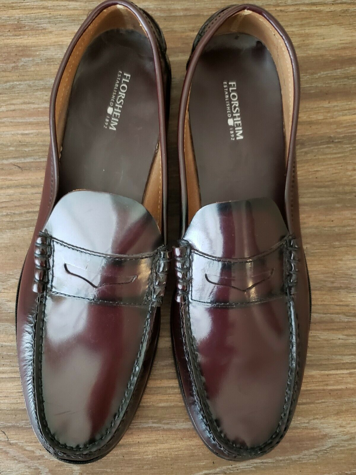 Florsheim Imperial size 13 mens slip on loafer cognac brown new shoes formal shoe