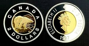 Canada-1997-Proof-Gem-Gold-Plated-Silver-Toonie