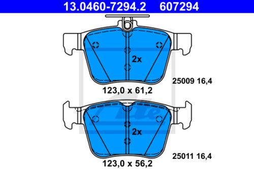 UAT Bremsbelagsatz Essieu Arrière 13.0460-7294.2 pour VW Touran 5t1 HA