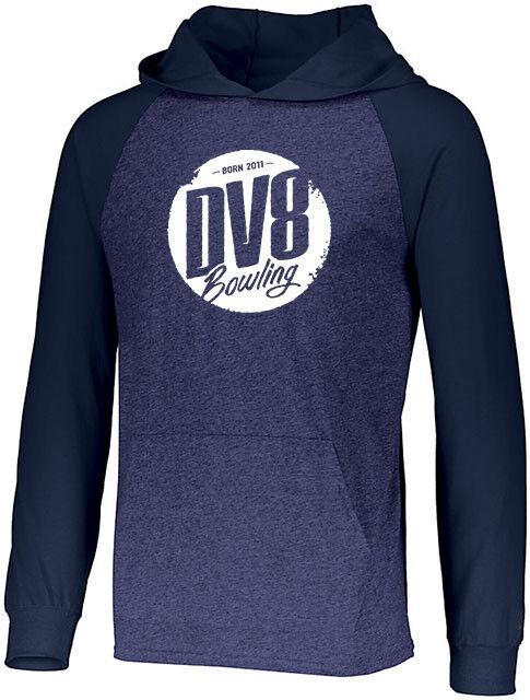 DV8 Men's Vandal Lightweight Hoodie Bowling Shirt DriFit Heather Navy