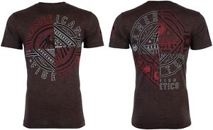 AMERICAN-FIGHTER-Mens-T-Shirt-CENTERVILLE-Athletic-BROWN-BLACK-Biker-Gym-40