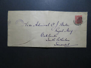 Great-Britain-WWI-HMS-Tiger-Censored-Ship-Cover-Fold-Bottom-Tear-Z11508