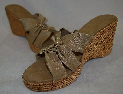 Italian Shoemakers Women's Daisy Beige Wedge Sandal Size 7910 NWB | eBay