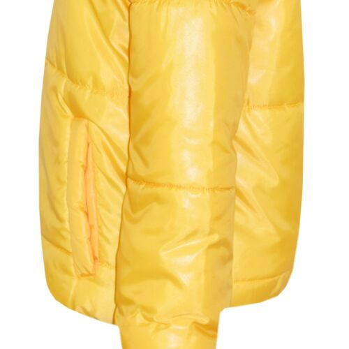 Kids Girls Wetlook Cropped Jacket Padded Quilted Puffer Bubble Jackets Coat 5-13