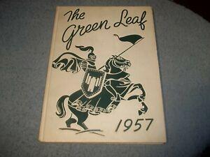 1957-MOUNT-PLEASANT-HIGH-SCHOOL-YEARBOOK-WILMINGTON-DE-GREEN-LEAF