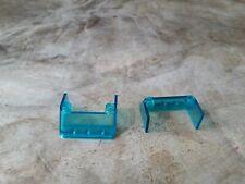 Lego Windscreen 3x4x1 1//3 large glass surface Part No 57783 Trans Light Blue x2