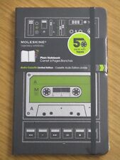 MOLESKINE Retro 70s 80s CASSETTE TAPE Plain Page Notebook Notepad NEW Xmas Gift