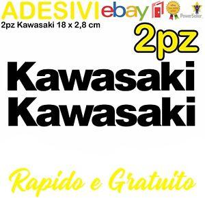 Kit-2-Adesivi-Kawasaki-636-zx6r-zx10r-Z900-z750-z1000-er6n-versys-Stickers-NERO