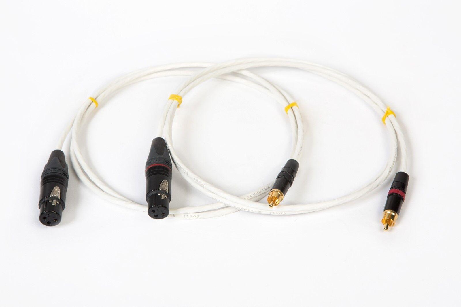 4' Pies de plata plateado plateado plateado Mil-spec RCA Cable de interconexión a Balanced XLR hembra. 786b8d