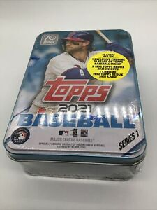 2021 Topps Series 1 MLB Baseball Collectible Trading Cards Tin Brand New Sealed