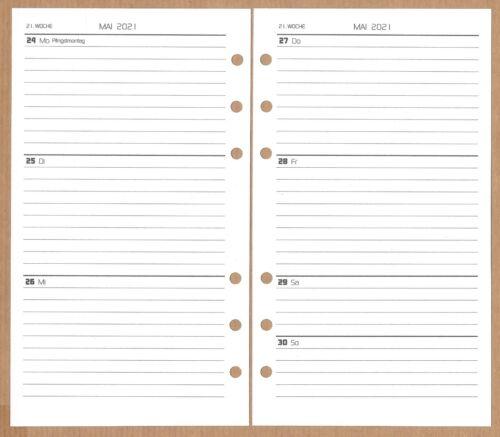 Ferien und Jahresü Kalendereinlage 2021 Design Funktional3 ca A6 mit Feiertagen