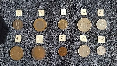 LOT OF 10 MIXED RUSSIAN FEDERATION COINS KOPEKS RUBLES CIRCULATED 1991-2018