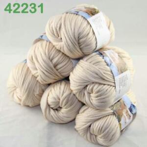 Détails sur Vente chaude 6 Ballons X 50 G épais Chunky À faire soi-même laine peignée 100% Coton Main Knitting Yarn 31- afficher le titre d'origine