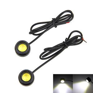 2x-12W-Auto-COB-LED-Runde-Scheinwerfer-DRL-Fahren-Tagfahrlicht-Lampe