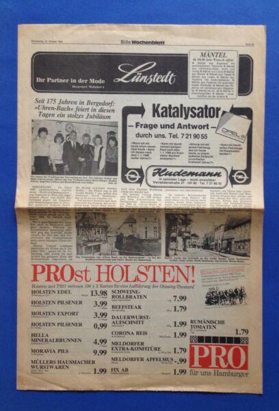1984 / Bach / Uhren-bach / Bergedorf /175 Jahre / Bille Wochenblatt / 25.10.1984