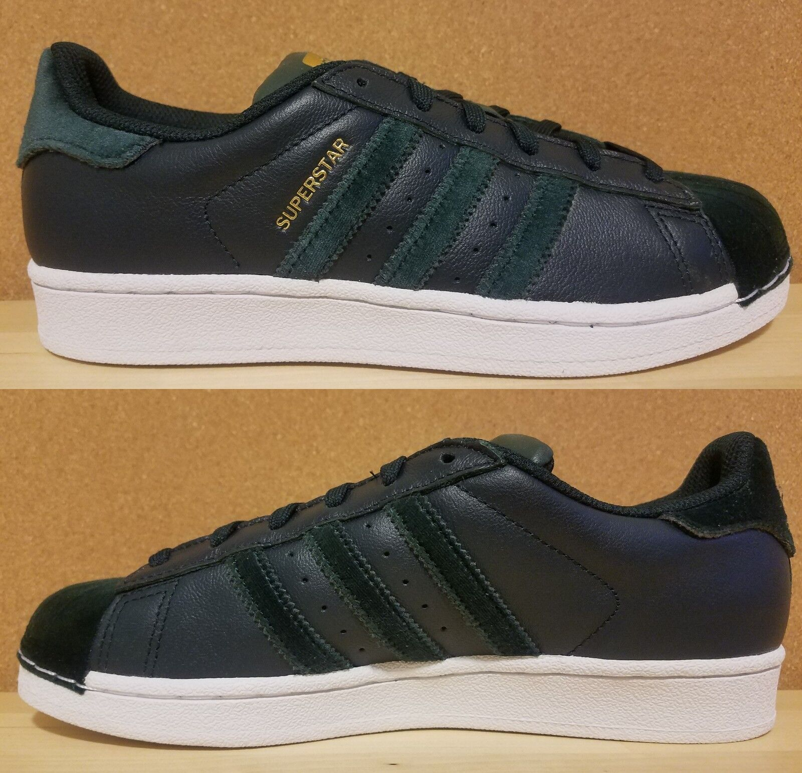 ADIDAS SUPERSTAR ORIGINAL WOMEN's CASUAL LEATHER GREEN - WHITE AUTHENTIC SIZE 7