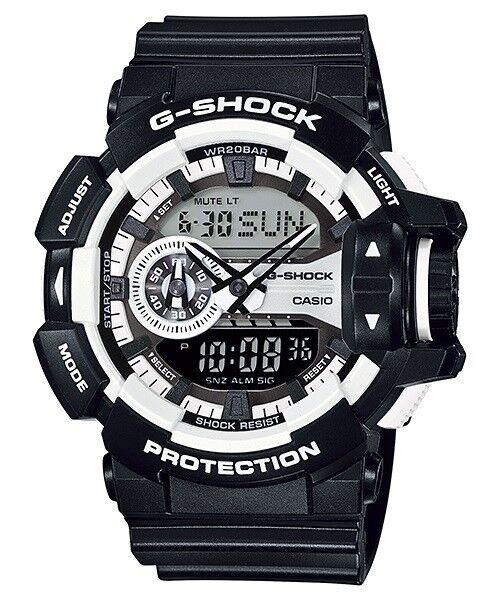 Casio G-Shock Analogue/Digital Mens Black/White XL Watch GA-400-1A GA-400-1ADR
